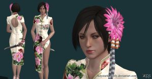 XPS model - RE6 Ada in Poney dress by ladystarkennedy