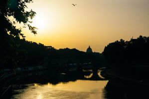 Sunset in Trastevere by Inarita