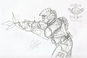 33rd Century UNSC Marine by Chris000