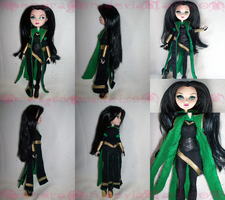 My Lokianna custom doll by KPenDragon