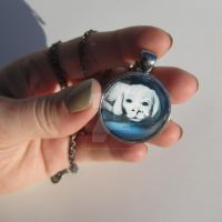 Falcor Pendant Necklace by TheInklingGirl