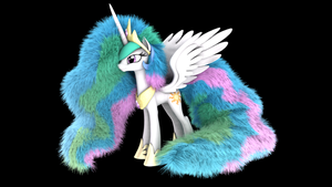 MLP Fluffy - Princess Celestia - OLD by VeryOldBrony