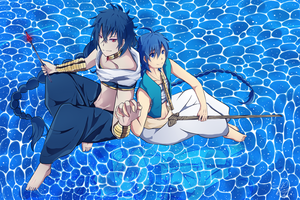 Magi - Judal and Aladdin by eki-kei
