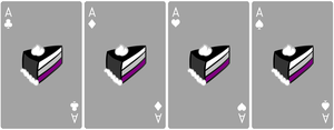 Ace Deck 58: Cake+Grey+White by Galadnilien
