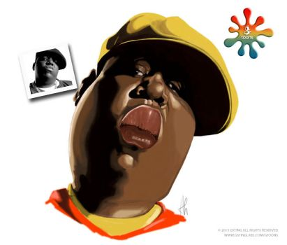 Notorious B.I.G. Caricature (Gtoon) by haroldgeorge-gsting
