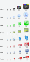 DT1: Contact Page Vector Icons Set by LordMystirio