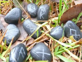 Black Rune Stone Set by Troll-Blood