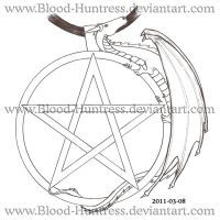 Pentacle Dragon Sketch 2011-03 by Blood-Huntress