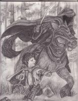 frodo and black rider by supercrazzy