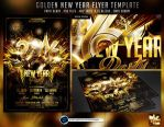 Golden New Year Flyer Template by ranvx54