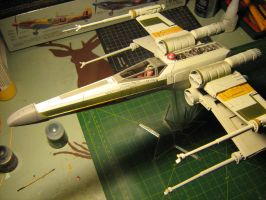 Refurbished ERTL X-wing Work In Progress by Defibulator