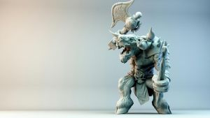 Minotaur Pretty Render/3d print preview by anarchisticmoosebear