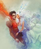 The Snow Queen and her lover by Alicechan