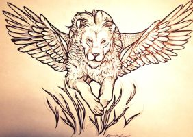 The Flying Lion by Love2B