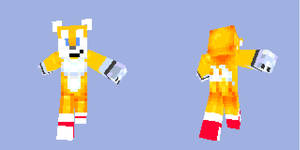 Minecraft Tails Skin by azwethinkweis117
