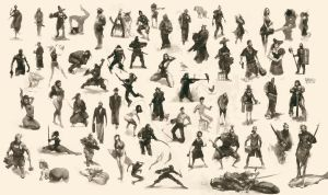 Figurative Sketch Compilation 002 by MrDream