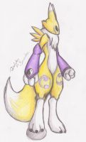 Renamon pose by Mancoin