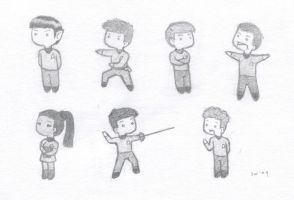 Trek Chibis by JoeyJoeJoeJrShabbadu