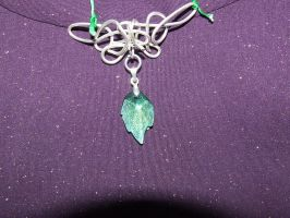 Elvish, Celtic necklace by kez245