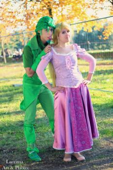 Rapunzel and Human Pascal by LuXoN94