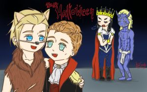 Happy Halloween with Hiddlesworth and Thorki!  by DeiiSpooky
