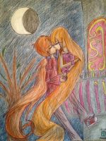 :CE: Bloss as Rapunzel Kiss In The Moonlight by kuku88