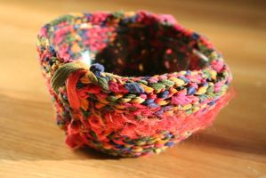 Knitted Bowl by fadedoak-craft