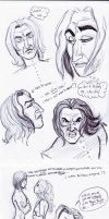Snape doodles by Howlingmojo