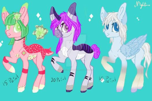 Pony Adopts [OPEN] by DarkNightmares9