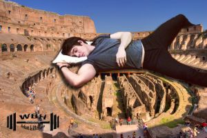 Sleeping At The Colosseum by Dumah7