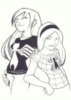 Gwen and MJ by KidNotorious