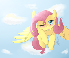 Fluttershy is Soarin' by Darkaiya