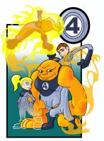 lil' Fantastic 4 by the-batcomputer