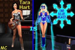 Tara Hart Is The Blue Blaze by The-Mind-Controller