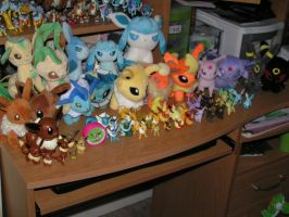 My Eeveelution Collection by doryphish333