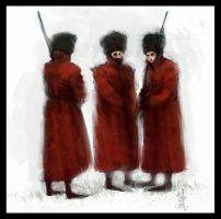 three red coats by Marcodalidingo