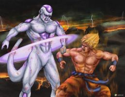 Goku vs Frieza by Gourmandhast