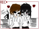 Creepypasta - Jeff and Masky by Cytuis