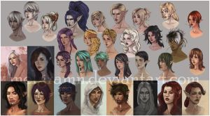 Collage of WIP BRM Portraits by Melgramn