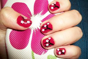 cherryblossom nail art by butterfly1980