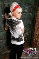 Bullet Wings Tee Back by BleedingStarClothing