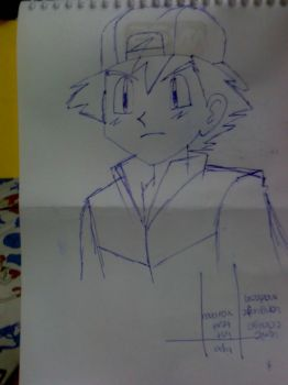 Satoshi drawn with pen by tora-no-andoresu