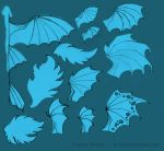 Free use dragon wings patterns by hontor