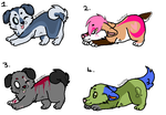 Wolf/Dog adopts -Open- by Team-RazorBlade