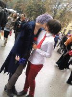 Male:Ib and Garry kissing ~ by Kanariacage