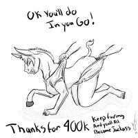 Thanks for 400K views 2 by Dragon-Storm