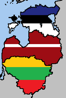 The Baltic States Flag Map by LtAngemon