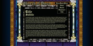 Disco Stained Glass Website by Garsondee