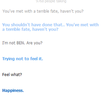 Cleverbot: BEN feels. by xHazzardous