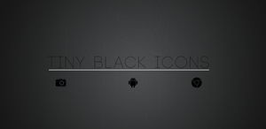Tiny Black Icons by sammyycakess